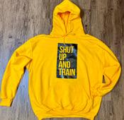 Image of Unisex Yellow/Black Hoodie