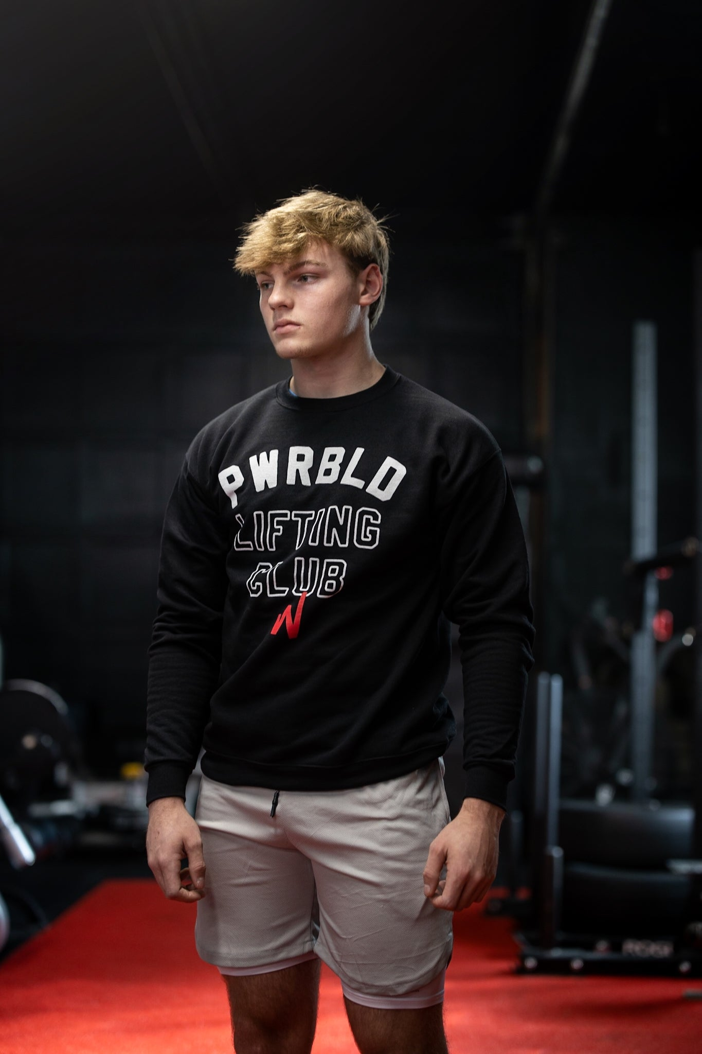 Image of Black PWRBLD Lifting Club Crewneck