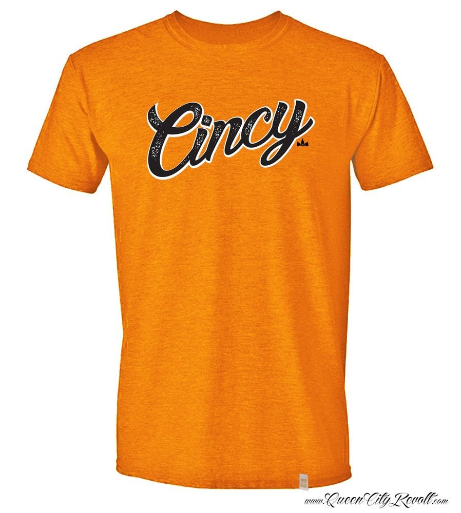 Image of Cincy Script Tee, Orange