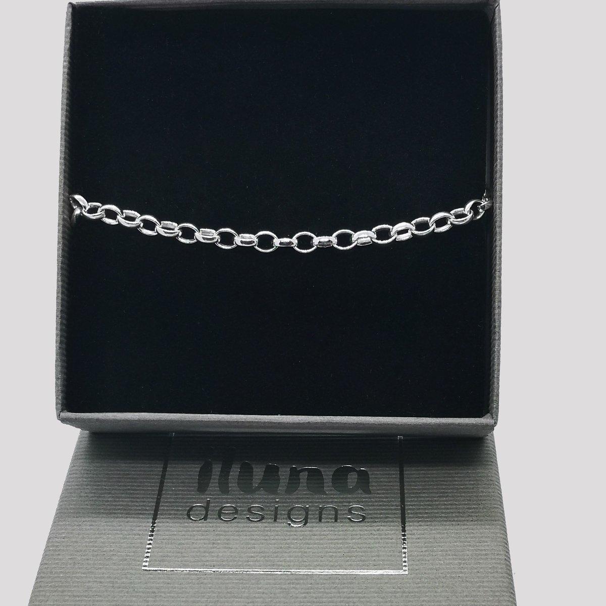 Image of Solid Silver Belcher Bracelet