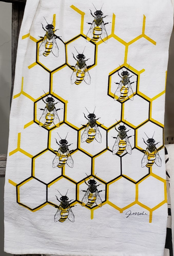 "Image of ""Bees"" Dishtowel"