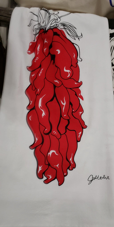 "Image of ""Chile ristra"" dishtowel"