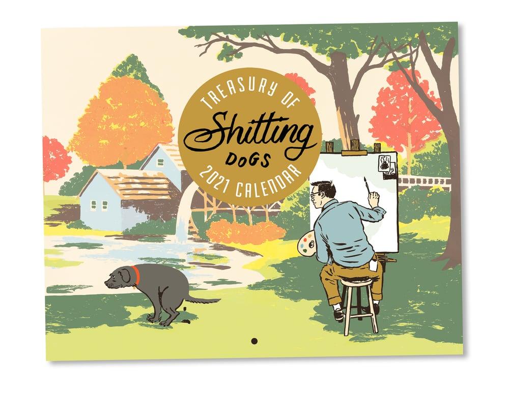 Image of 2021 Shitting Dogs Calendar