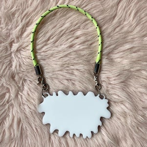 """Image of """"Unfollow Me"""" Neon Rope Necklace"""