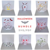 Image of Halloween Template Bundle  - SVG / PDF digital files