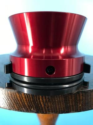 "Image of Burlington Recording Professional Red 1/4"" NAB Hub Adapters with Aluminum Trumpet (PAIR)"