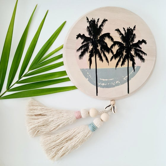 Image of Summer breeze palm wall tassel