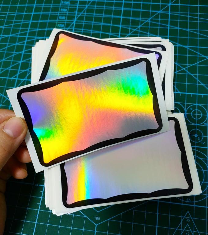 Image of Black Wave Plain Hologram Destructible Eggshell stickers 100pcs free shipping