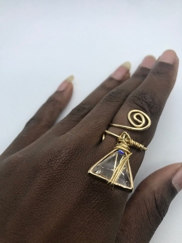 Image of The triangle pyramid ring