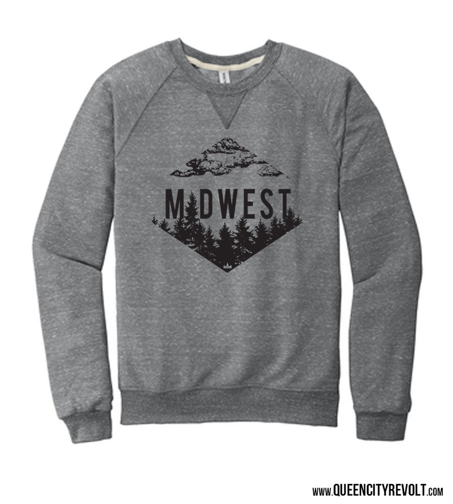 Image of Midwest Sweatshirt, Grey Crew