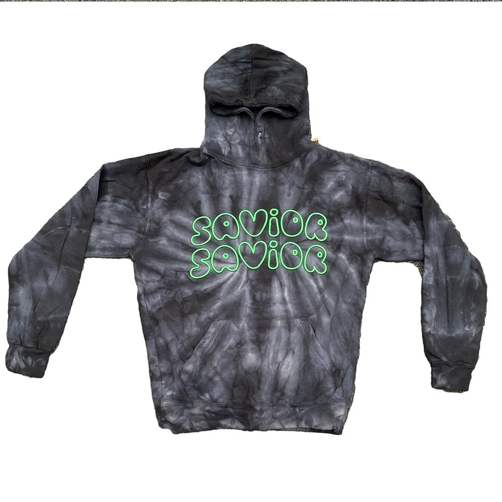 Image of  PUFF HOODIE + BLACK/GREEN
