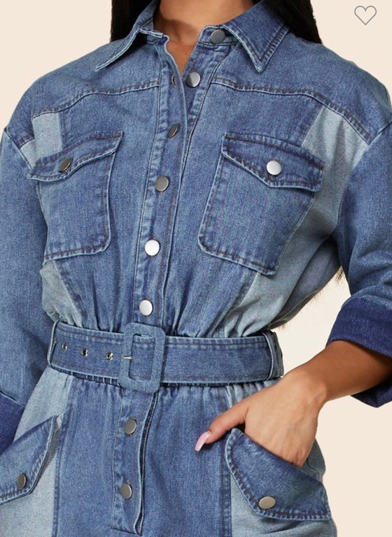 Image of Rezza Denim Jumpsuit