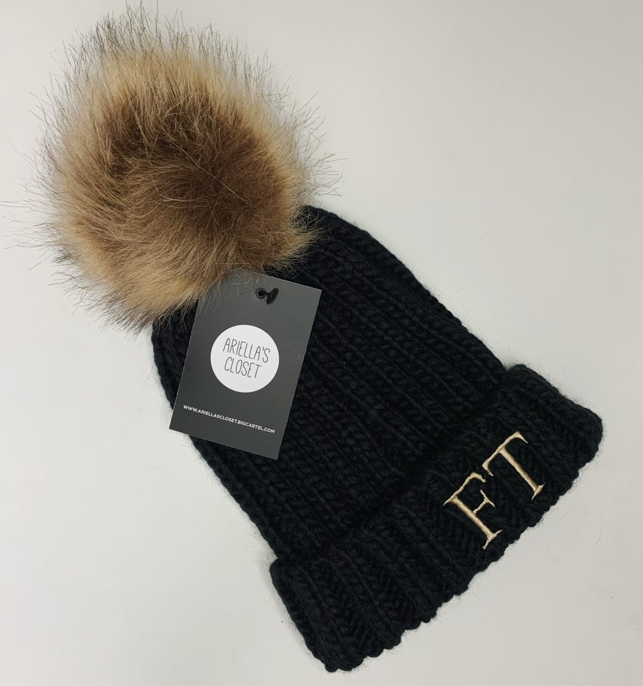 Image of Personalised Initails PomPom Hat