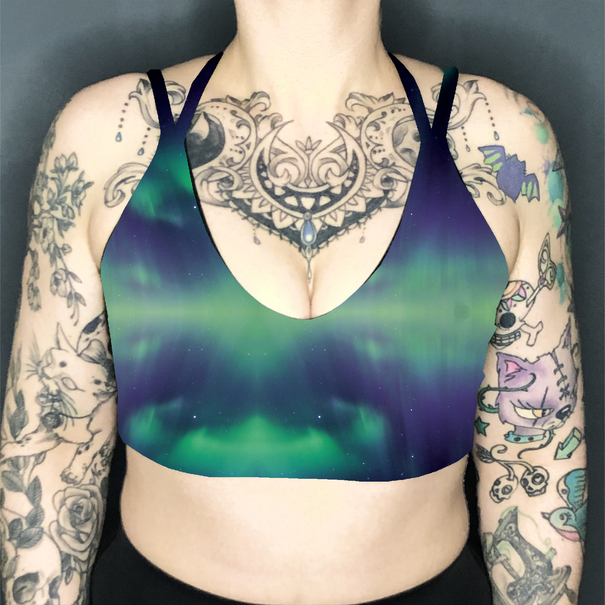 Image of Aurora Deep Plunge Strappy Crop Top
