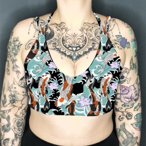 Image of Koi Pond Deep Plunge Strappy Crop Top