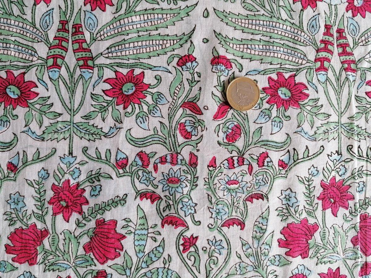 Image of Namasté fabric fleurs grimpantes