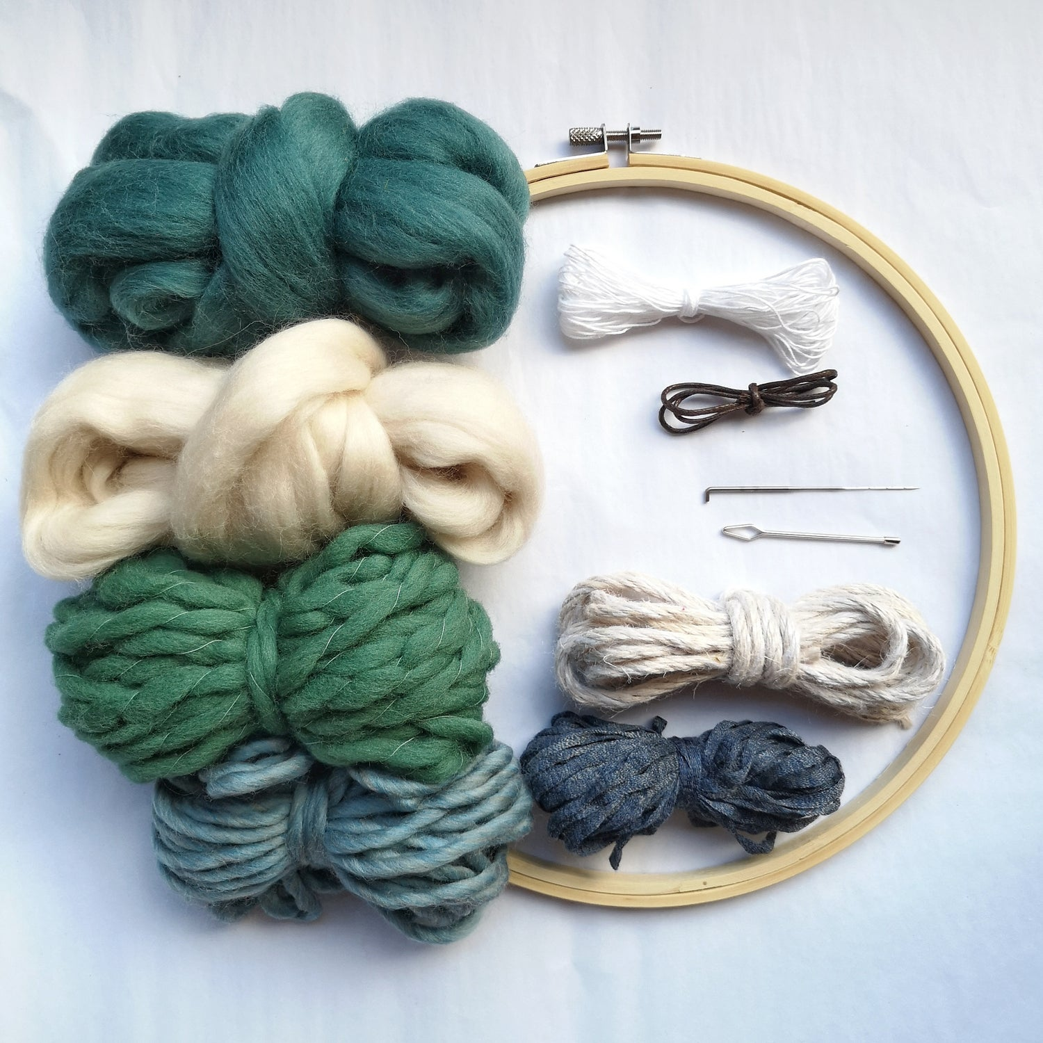 Image of Round weave kit - blue and green