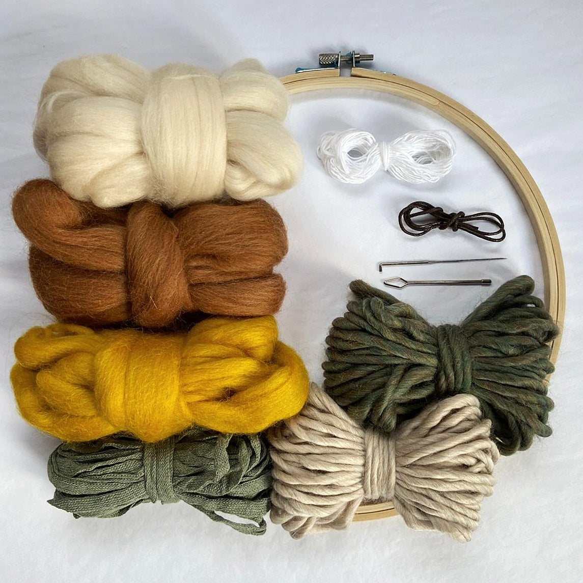 Image of Round weave kit - green & yellow