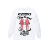 DIVINE EXISTENCE – WHITE LS TEE