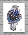 "Rolex GMT-Master II 126710BLNR ""Batman"" Print"
