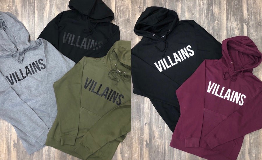 Image of VILLAINS original hoodies