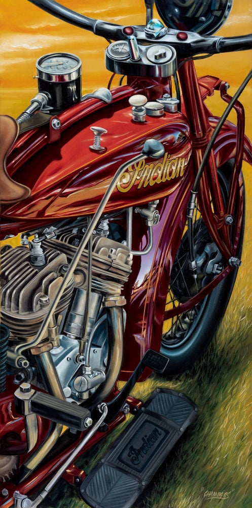 Image of Indian Scout 1928  (Giclee Canvas Framed)