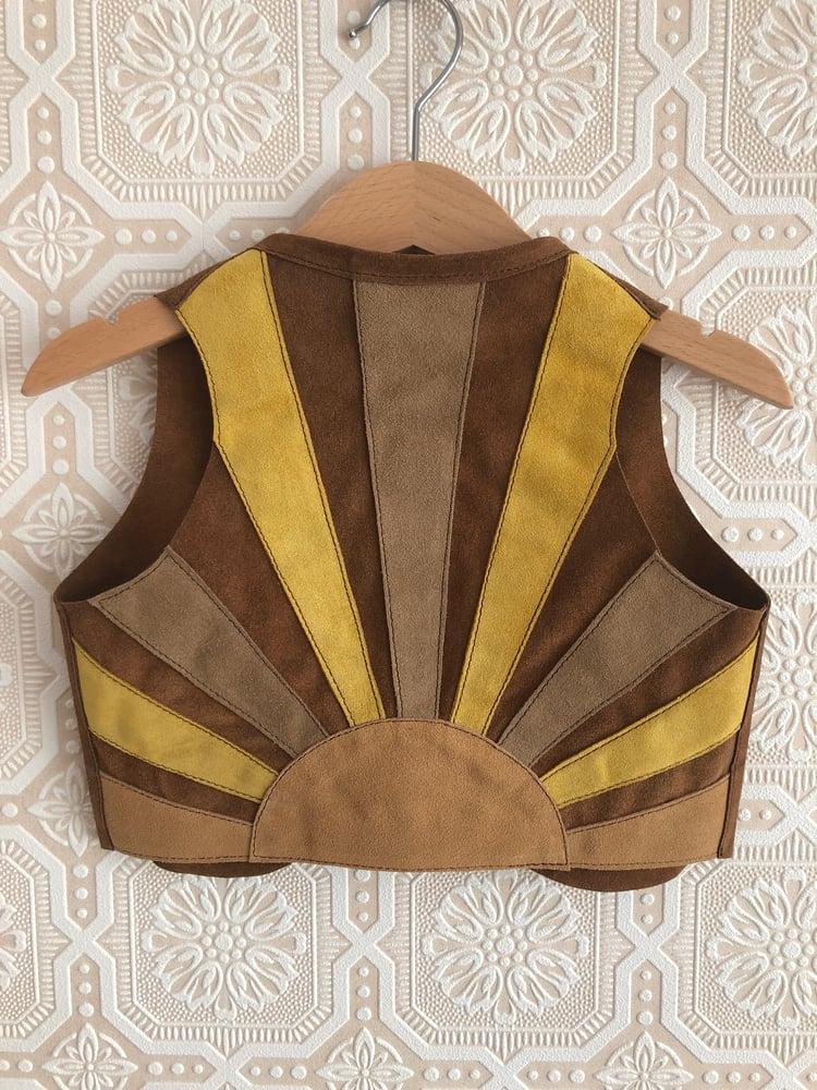 Image of COSTA SUR- Kids California Gold Suede Vest