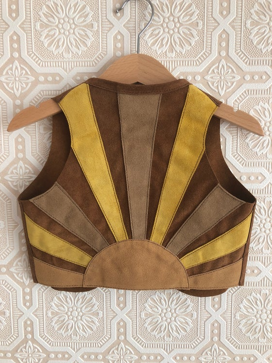 Image of COSTA SUR- Kids California Gold Suede Vest