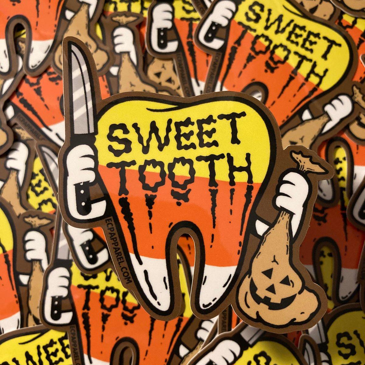 """Sweet Tooth"" Die- Cut Sticker"