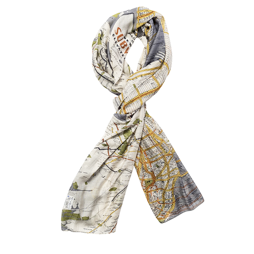 Image of New York Map Scarf