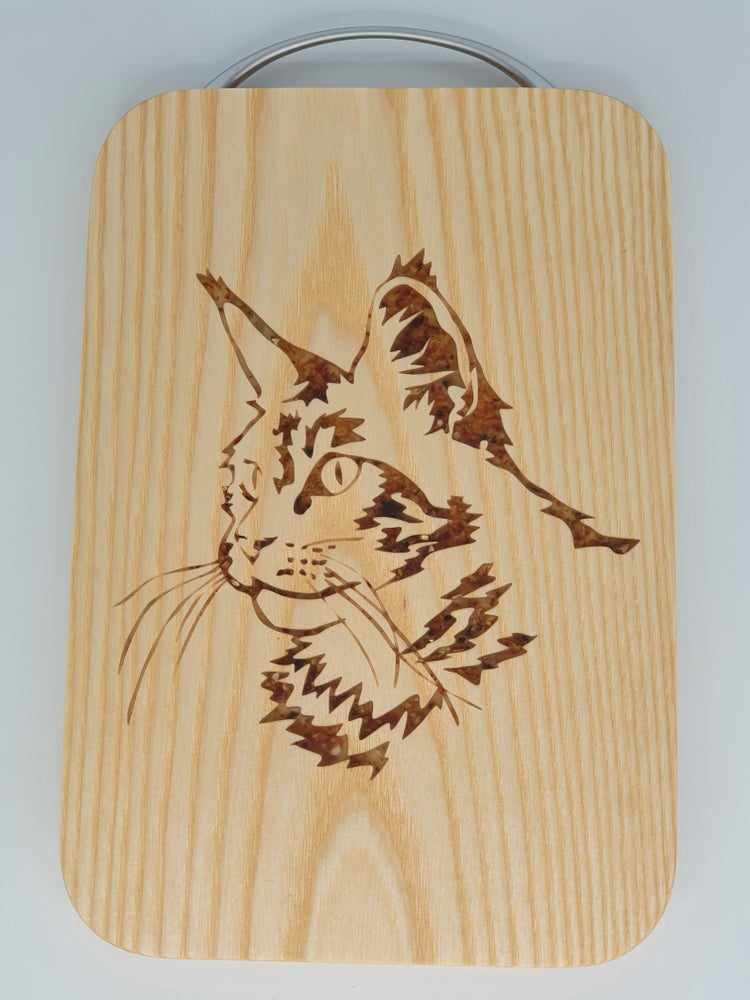 Image of Cat chopping board