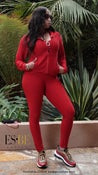 Image of Adapt 3pc Activewear Set red