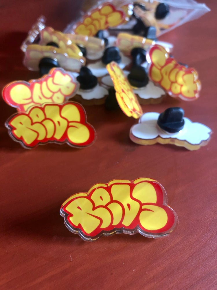 Image of REDS throw acrylic pins