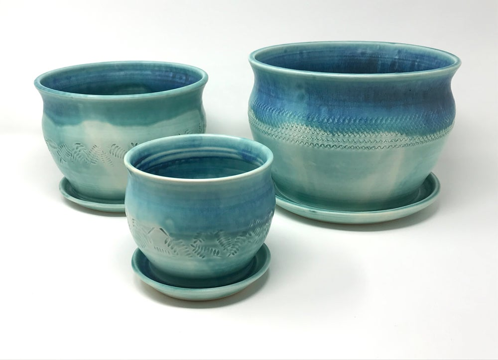 Image of Stoneware Plant Pots