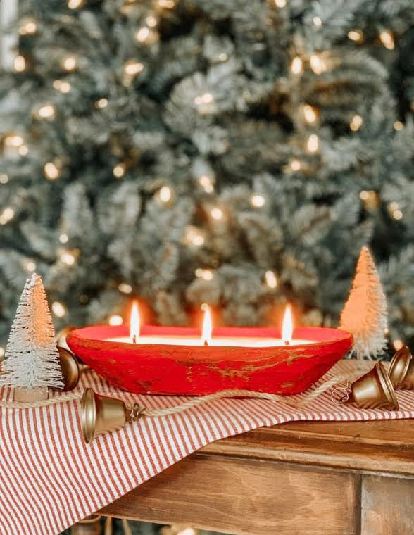 Image of Holiday Dough Bowl Candles