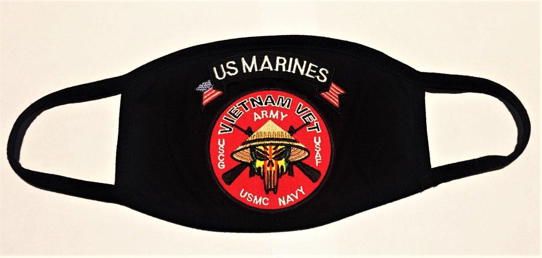 Image of Vietnam Veteran US Marine Face Mask