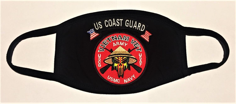 Image of Vietnam Veteran US Coast Guard Face Mask