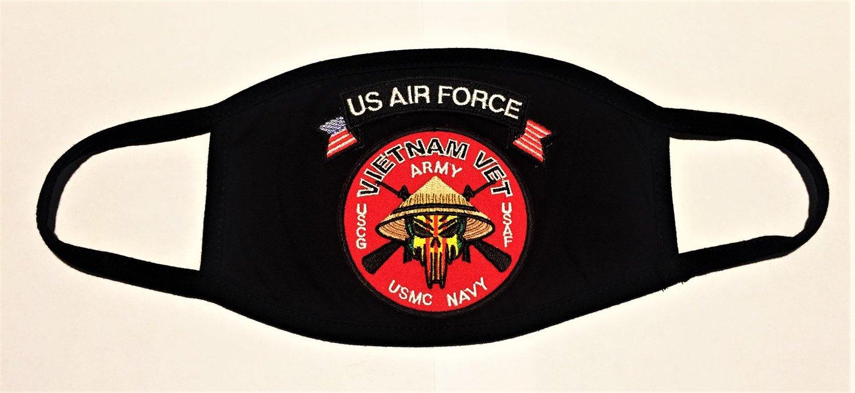 Image of Vietnam Veteran US Air Force Face Mask
