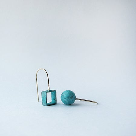 Image of Copper Patina/ Open Square / Ball / Small Shapes