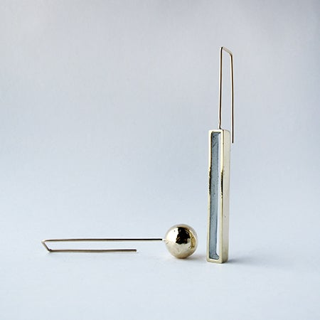 Image of Brass Ball / Long Open Rectangle / Small Shapes