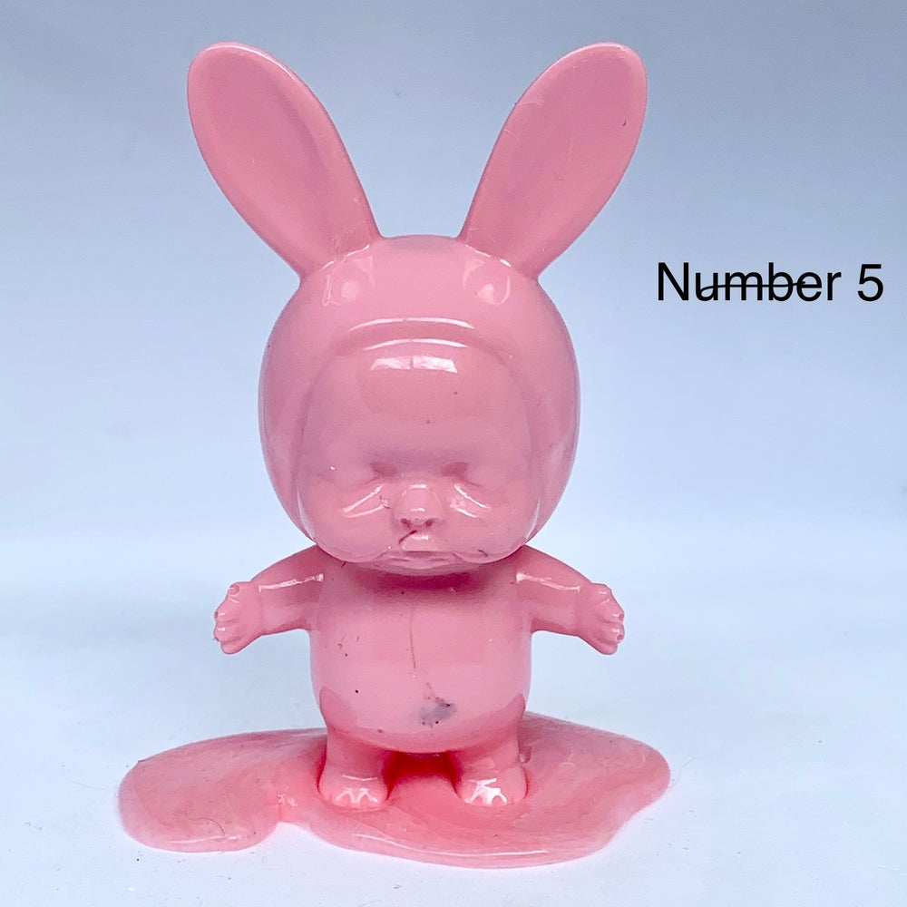 Image of Bunny Babies on Blobs - Pinks/Corals