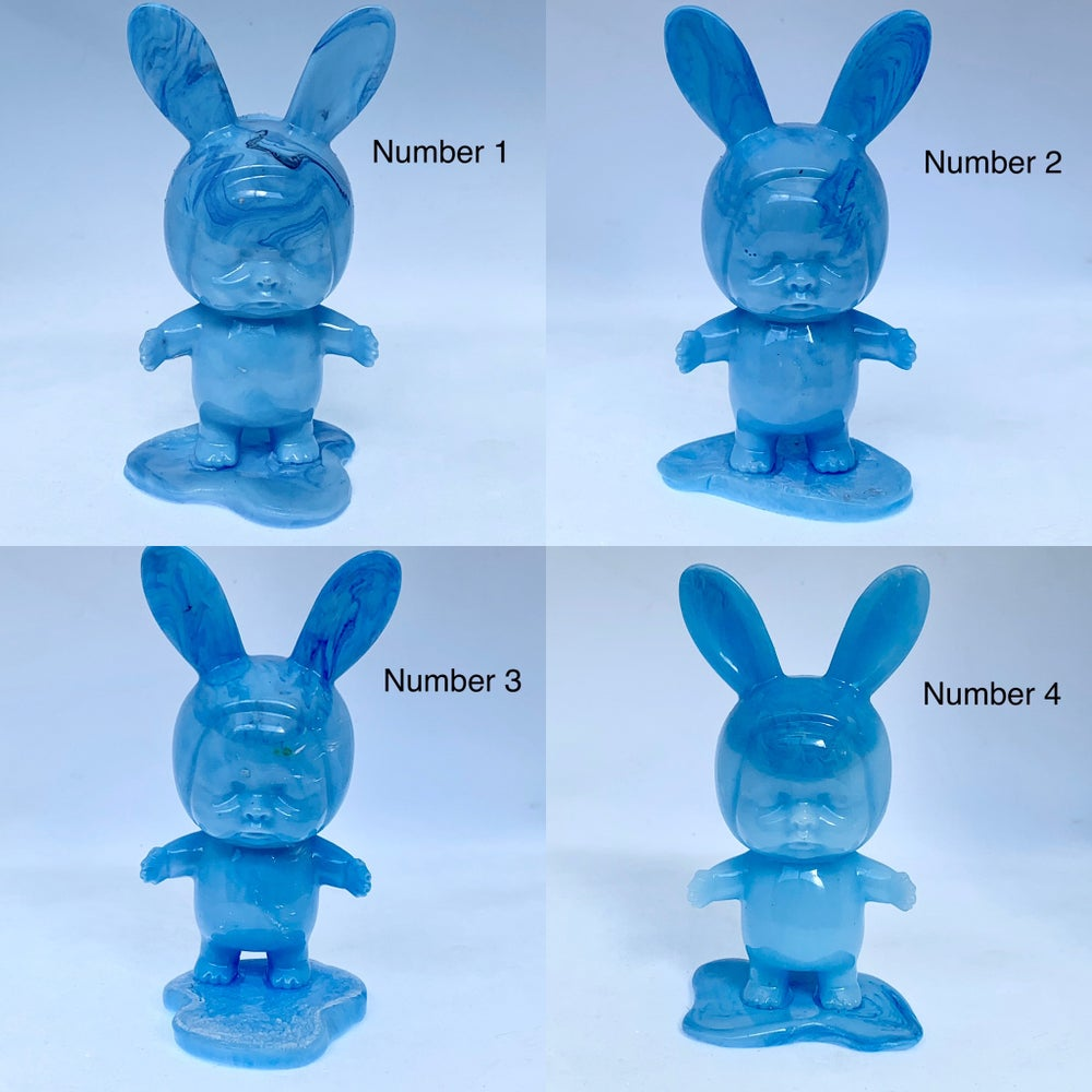Image of Baby Bunnies on Blobs - blues