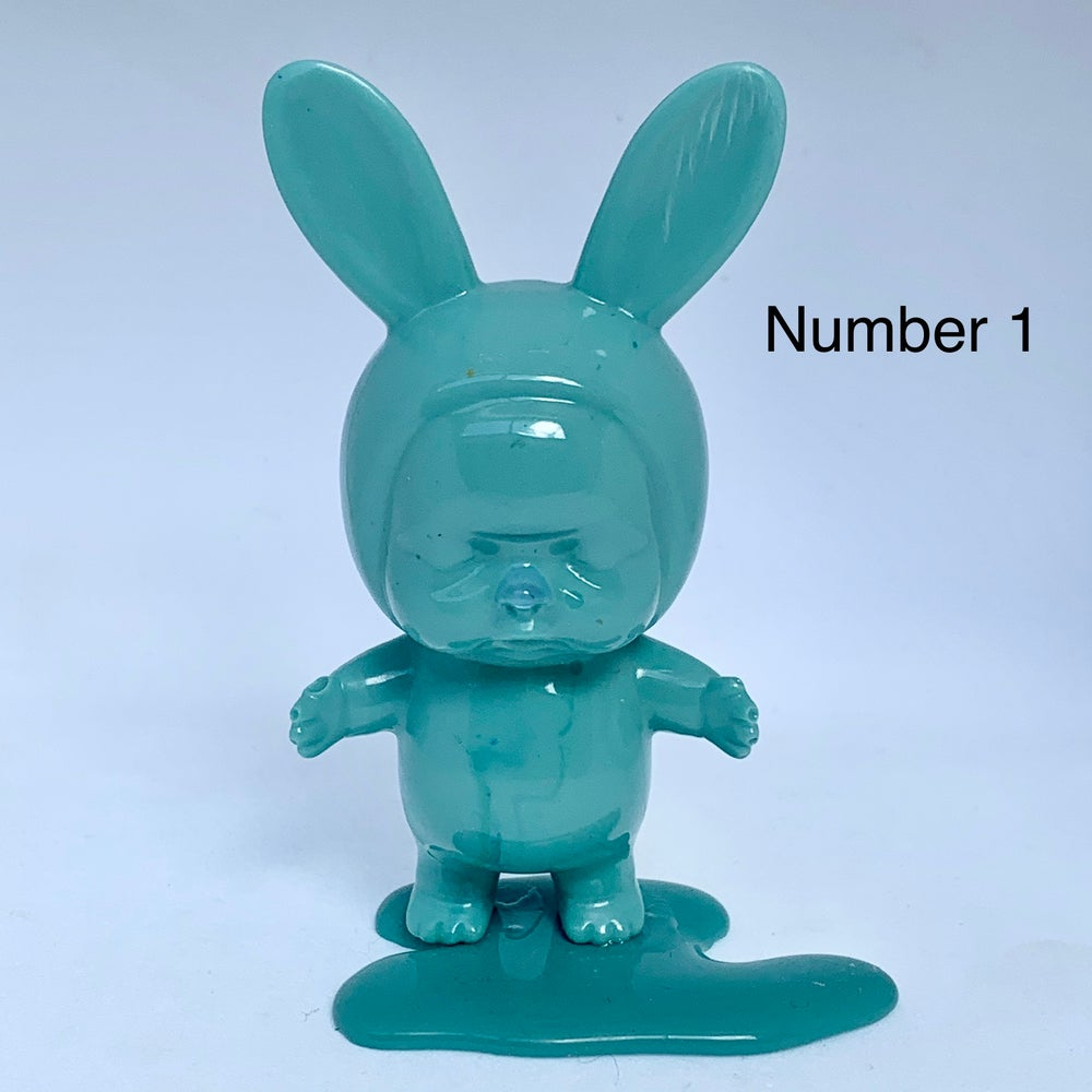 Image of Baby Bunnies on Blobs - Mint