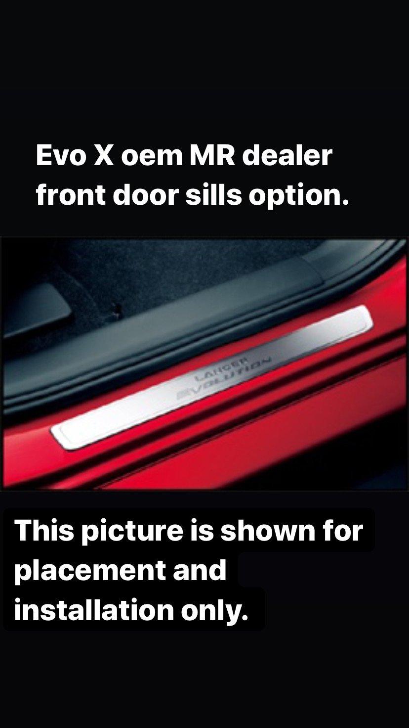 Mitsubishi Evo X titanium front titanium door sills.
