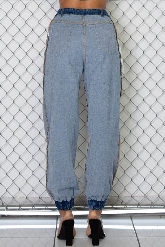 Image of Denim Inside Out Joggers