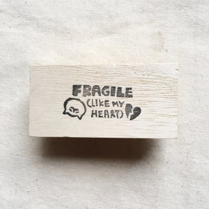 Fragile Like My Heart Mail Stamp