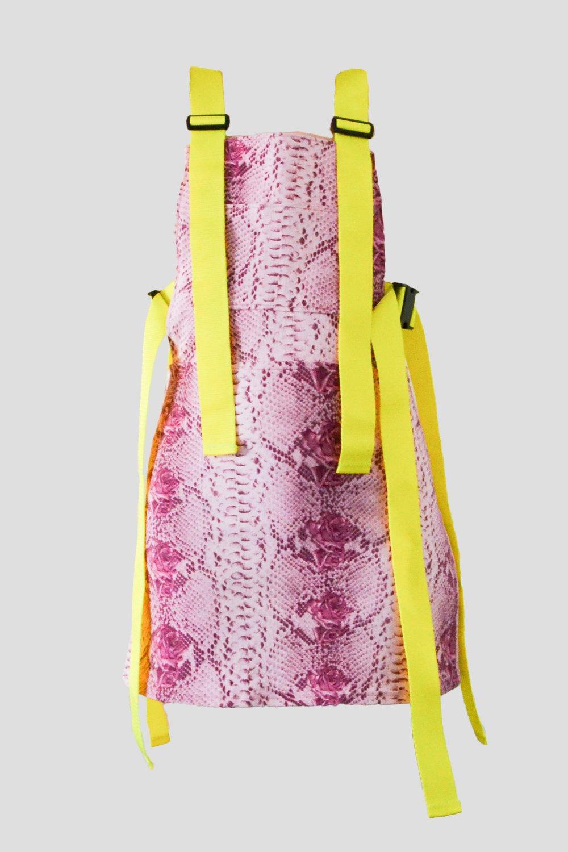 Image of Snake Overall Dress