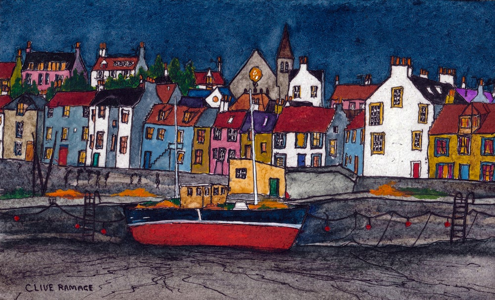 Image of St Monans (Blue and red Fishing Boat)_