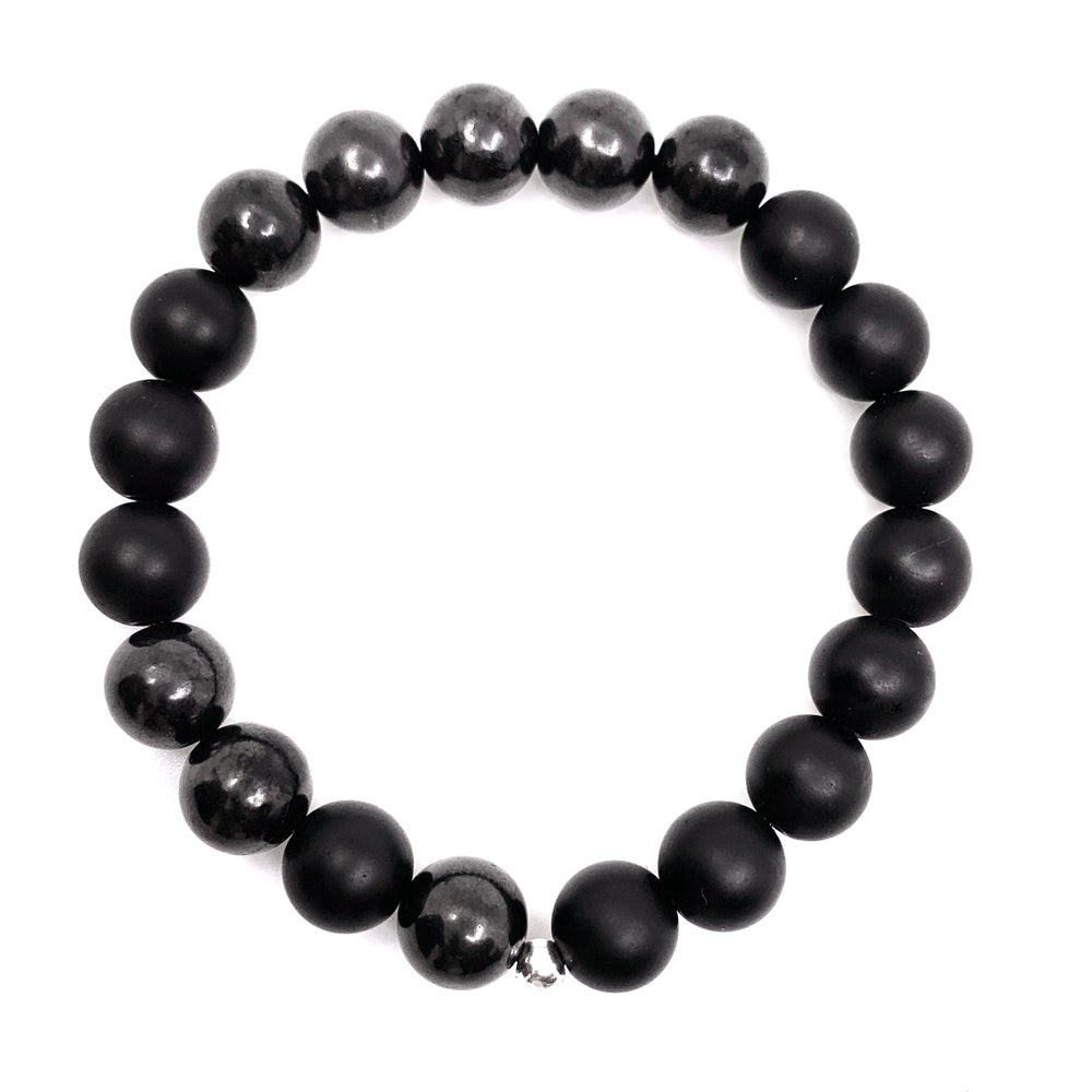 Image of Men's Infinity Onyx & Shungite
