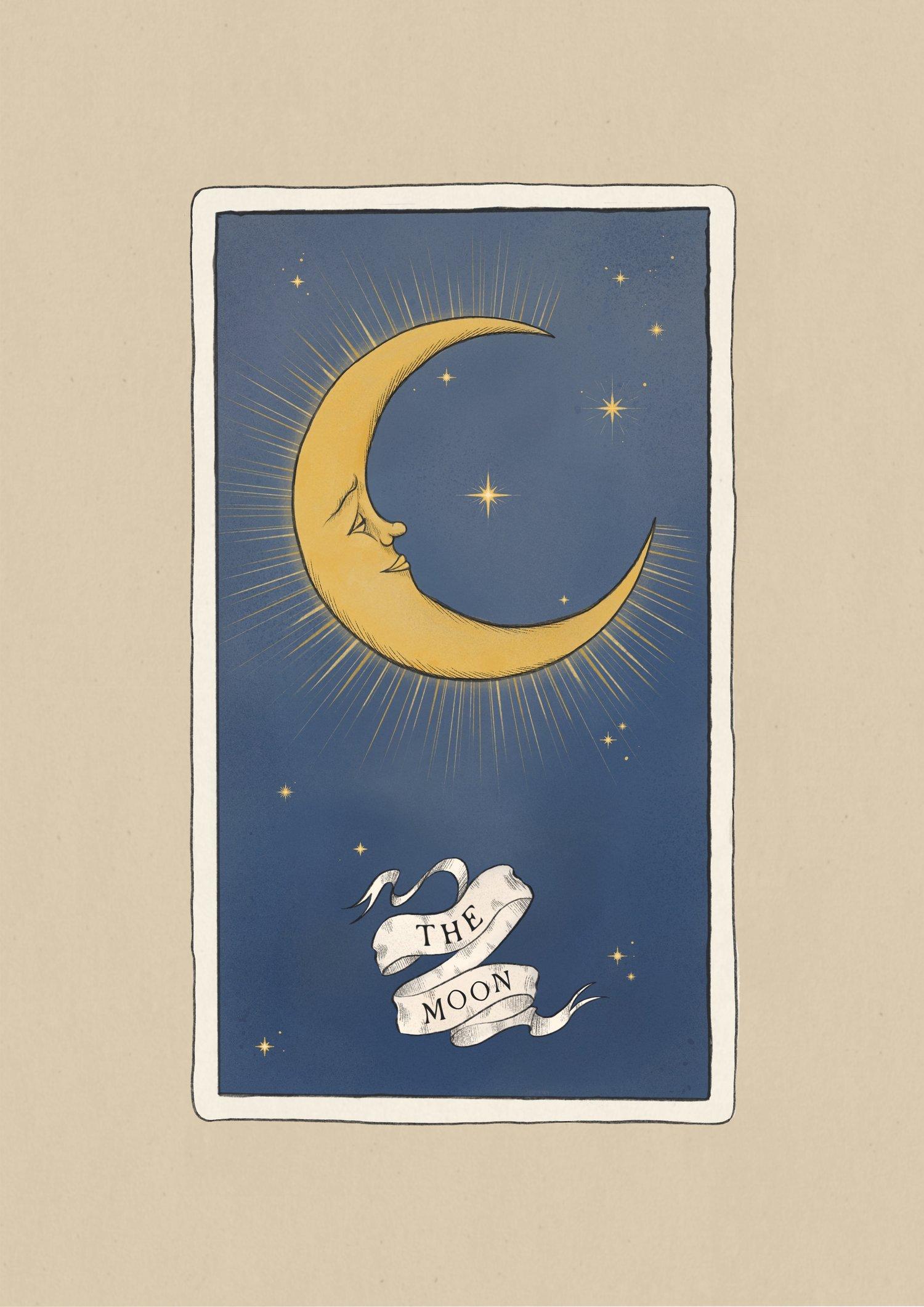 Moon Tarot Card - Giclée Print